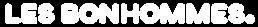 Les Bonhommes - Logo - Blanc