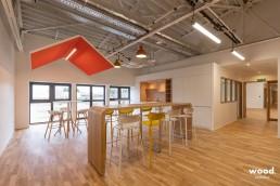 Bonhommes - Montage de mobilier professionnel - Table coworking et chaises hautes